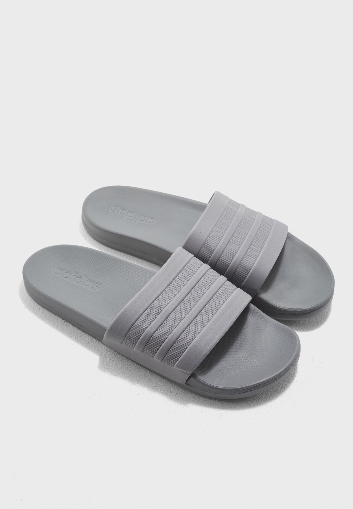 f3985a83f Shop adidas grey Adilette CF+ Mono Slides S80977 for Men in UAE ...