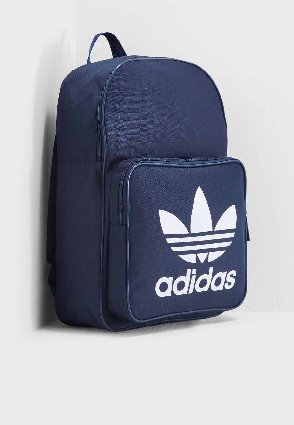 Shop adidas Originals navy Trefoil Classic Backpack DJ2171 for Men ... 6293efdcec26b
