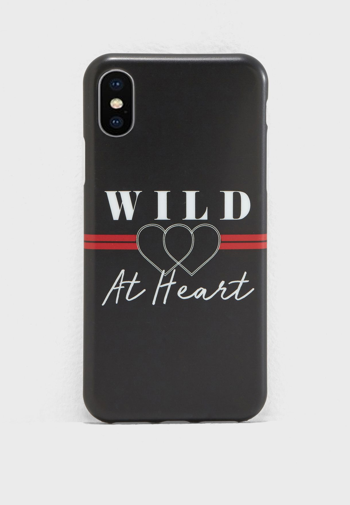 Shop Pink Cactus black Wild At Heart iPhone X Case NAM400140 for ... e30d68db8
