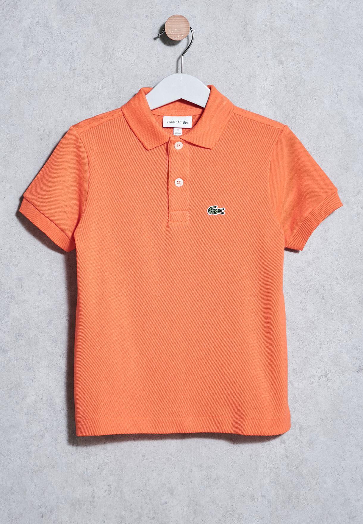 61795256486d Shop Lacoste orange Kids Best Polo PJ2909-QPJ for Kids in UAE ...