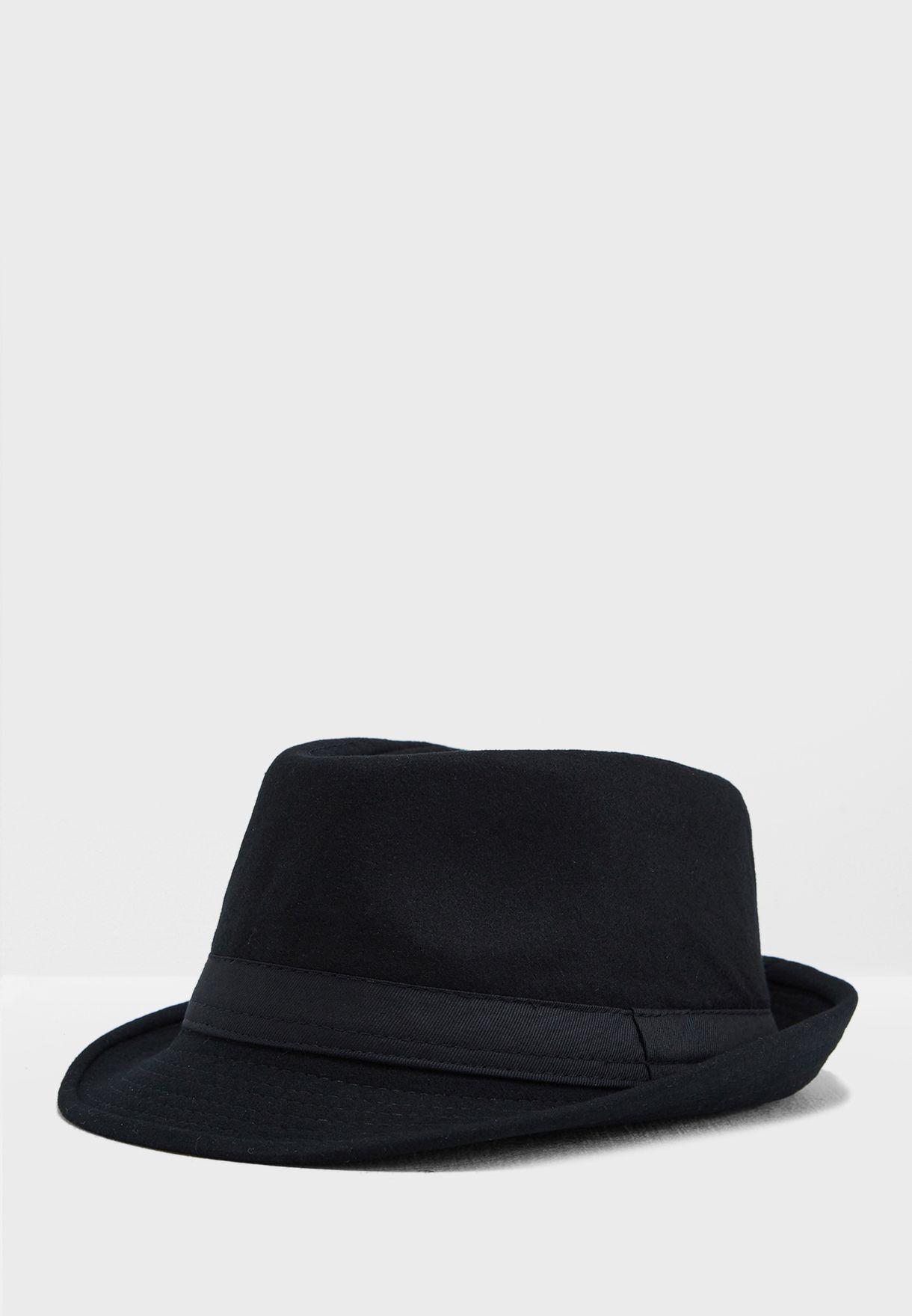 10c9d10e Shop Seventy five black Fedora Hat MB866 for Men in UAE - SE177AC33CEK