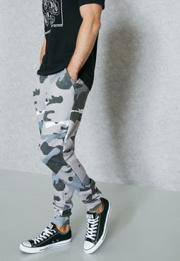 Abstract Camo Joggers