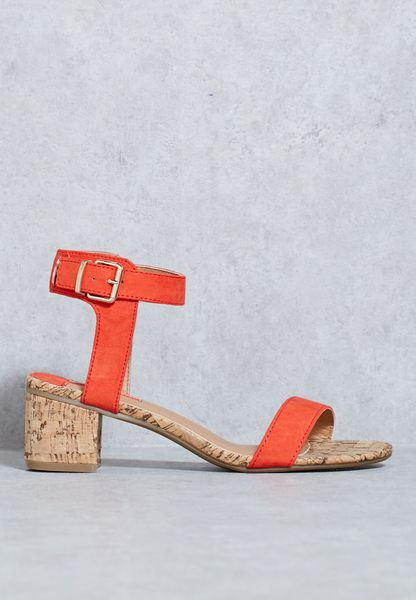 Ankle Strap Cork Sandals
