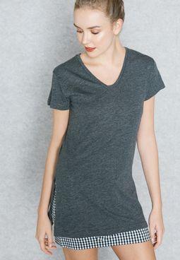 Long Slit T-Shirt