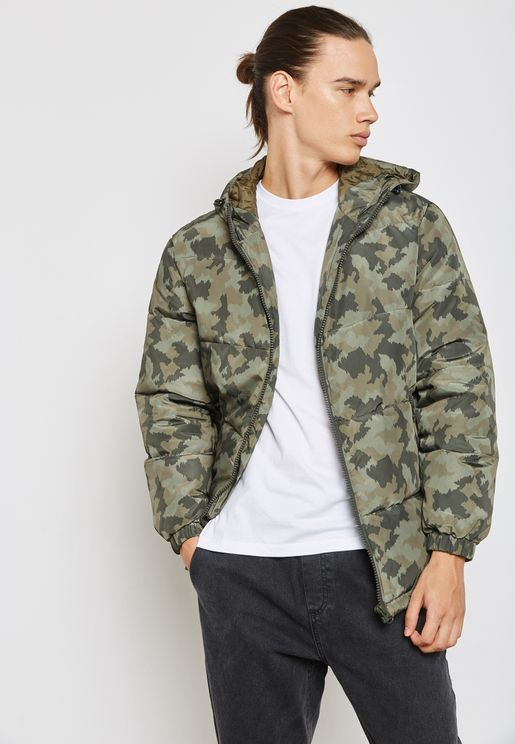 Hoodied Puffer Jacket