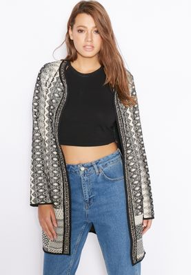 Miss Selfridge Embellished Printed Jacket