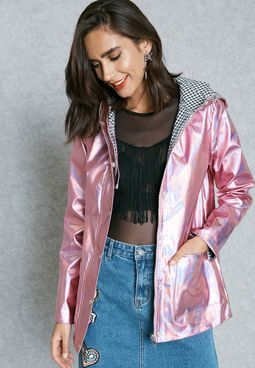 Hooded Shimmer Jacket
