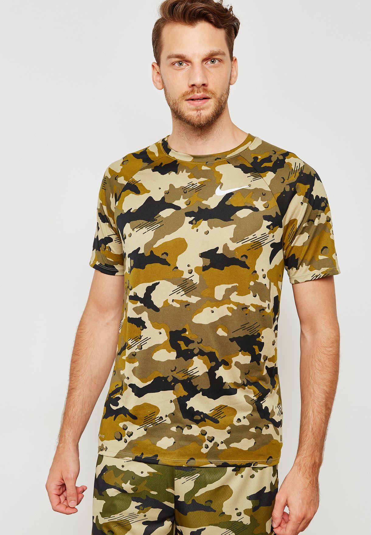 d7a5a502f3b4 Shop Nike prints Dri-FIT Camo T-Shirt 923524-209 for Men in UAE ...