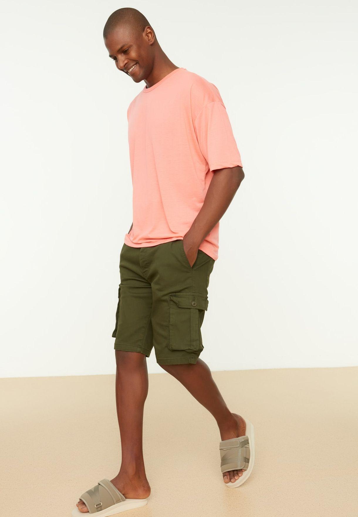 Pocket Detail Cargo Shorts