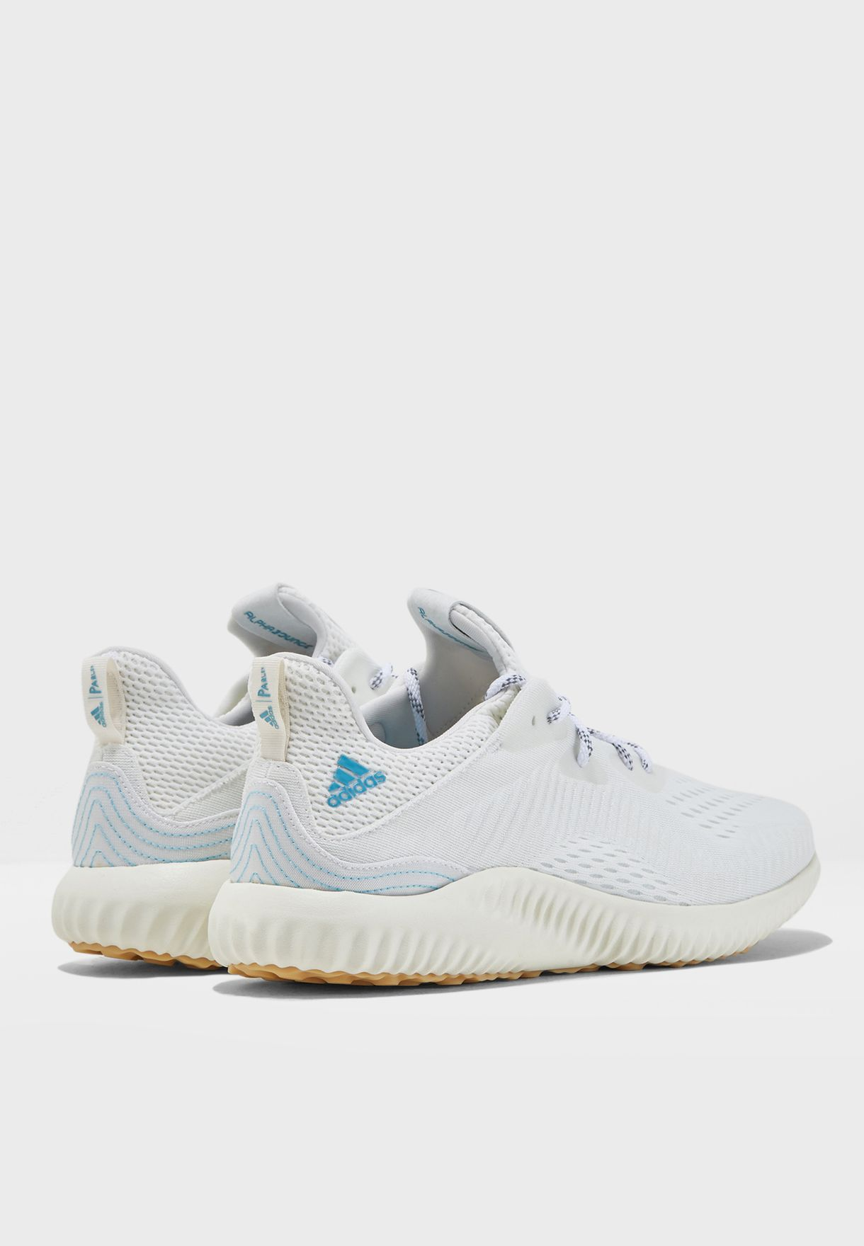 01aba5786 Shop adidas white Alphabounce 1 Parley CQ0784 for Men in UAE ...