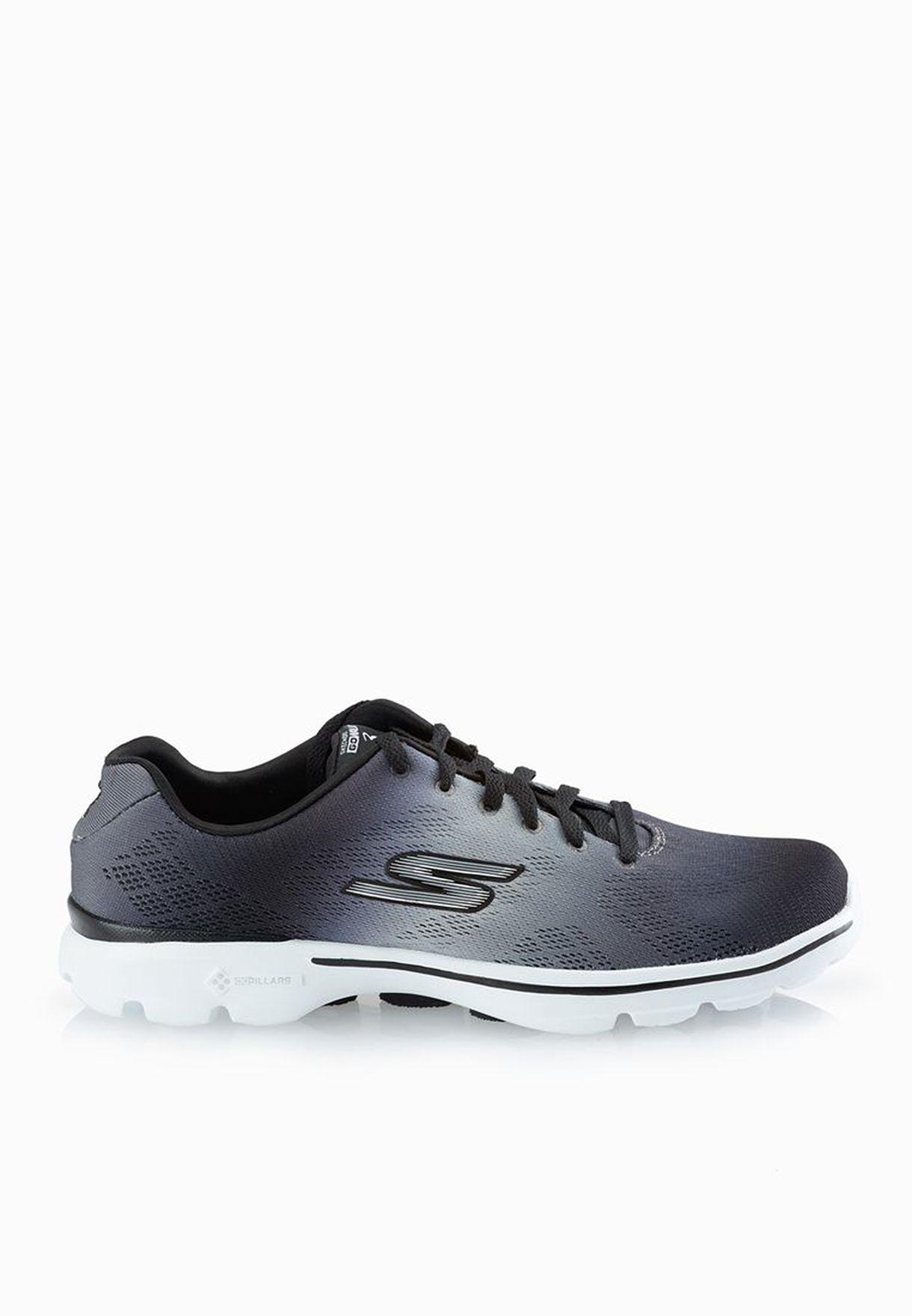 759cd2bd7 تسوق حذاء Go Walk 3 Pulse ماركة سكيتشرز لون رمادي 14032-BKW في قطر ...