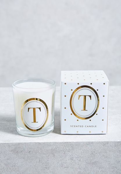 T Alphabet Votive Candle