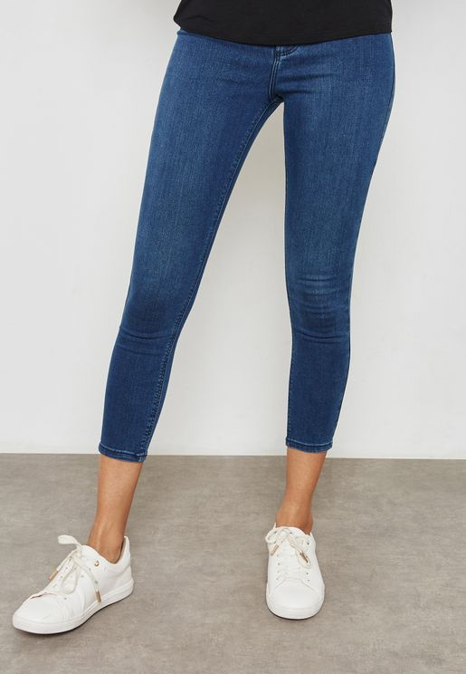 MOTO Cropped Skinny Jeans