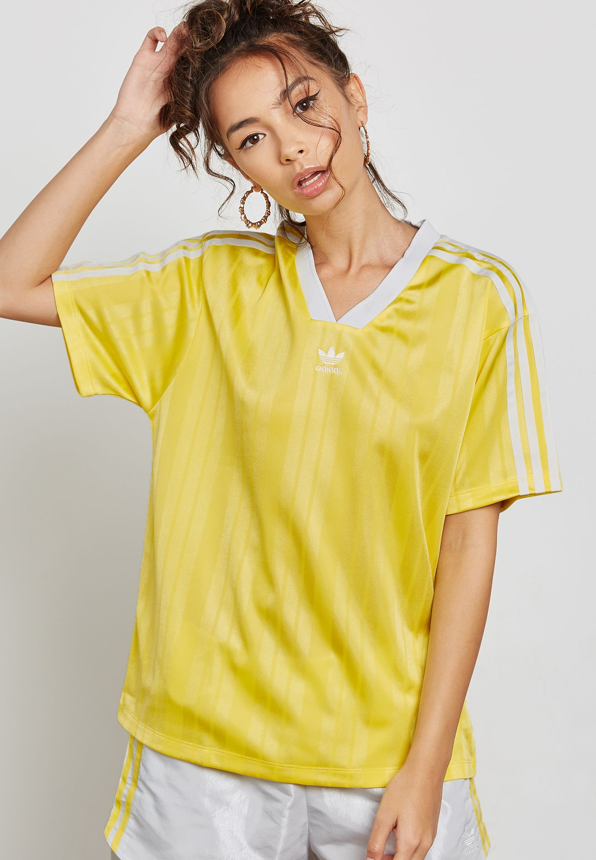 Shop adidas Originals yellow Fashion League T-Shirt CE5504 for Women in  Saudi - AD478AT23UVO daf7c811abb32