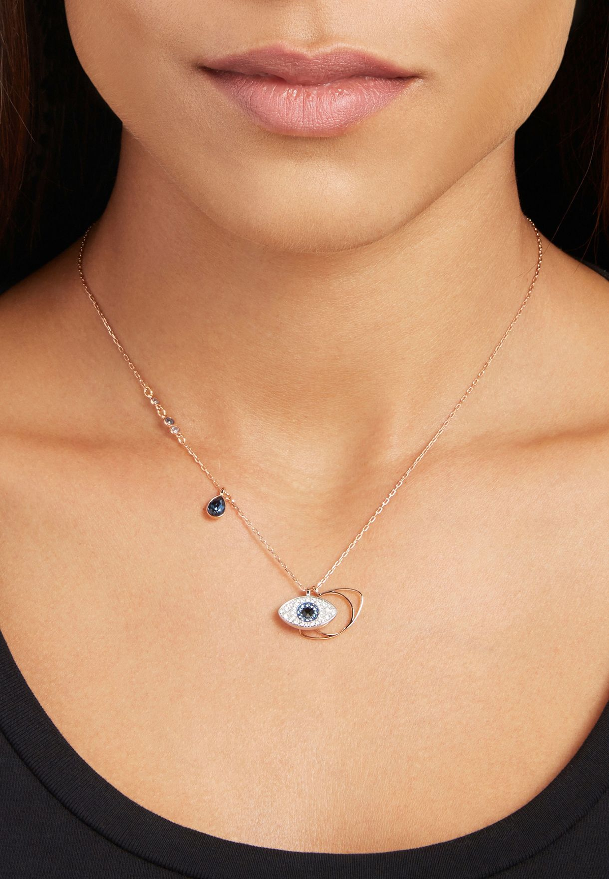 Evil Eye Duo Pendant Necklace
