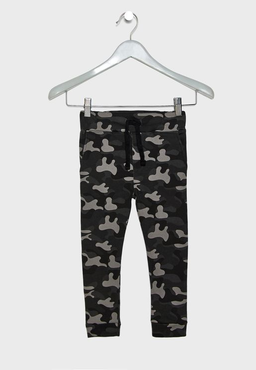 Little Camo Print Sweatpants