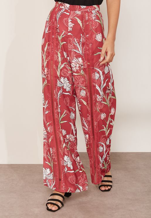 Rotation Floral Wide Leg Pants