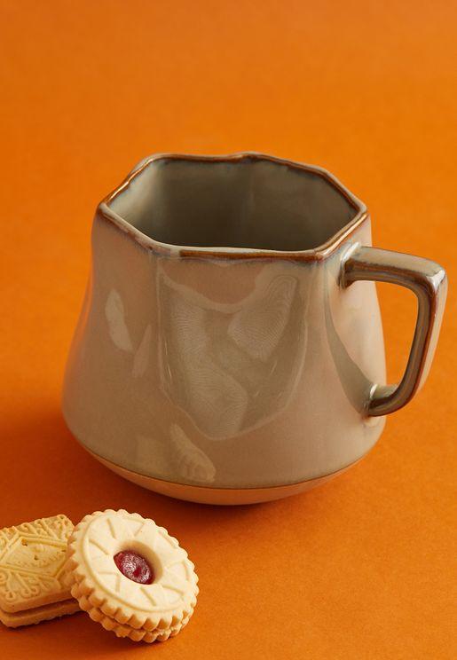 Large Sage Crinkle Mug