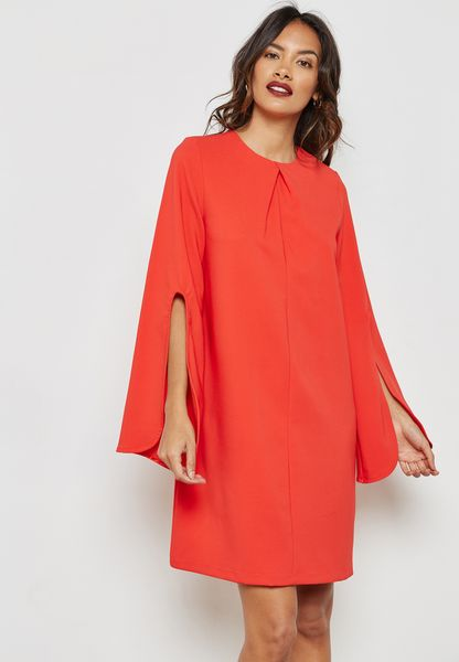 Cape Detail Dress