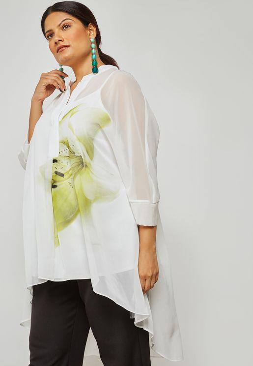 Lime Printed Shirt