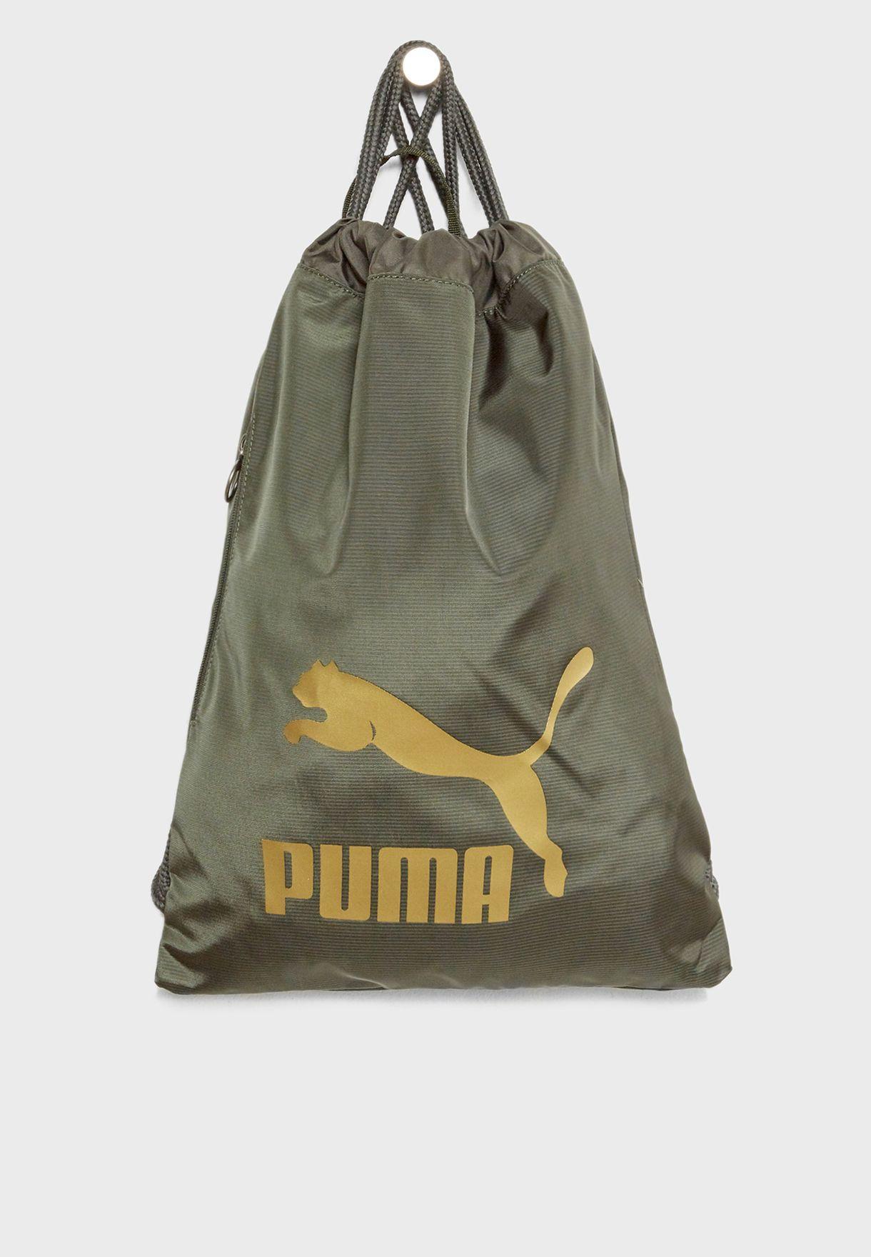 a6e568bce08b Shop PUMA green Originals Gymsack 7481210 for Men in Qatar - PU020AC23EMM