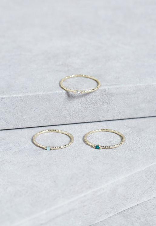 Multi Pack Stone Rings