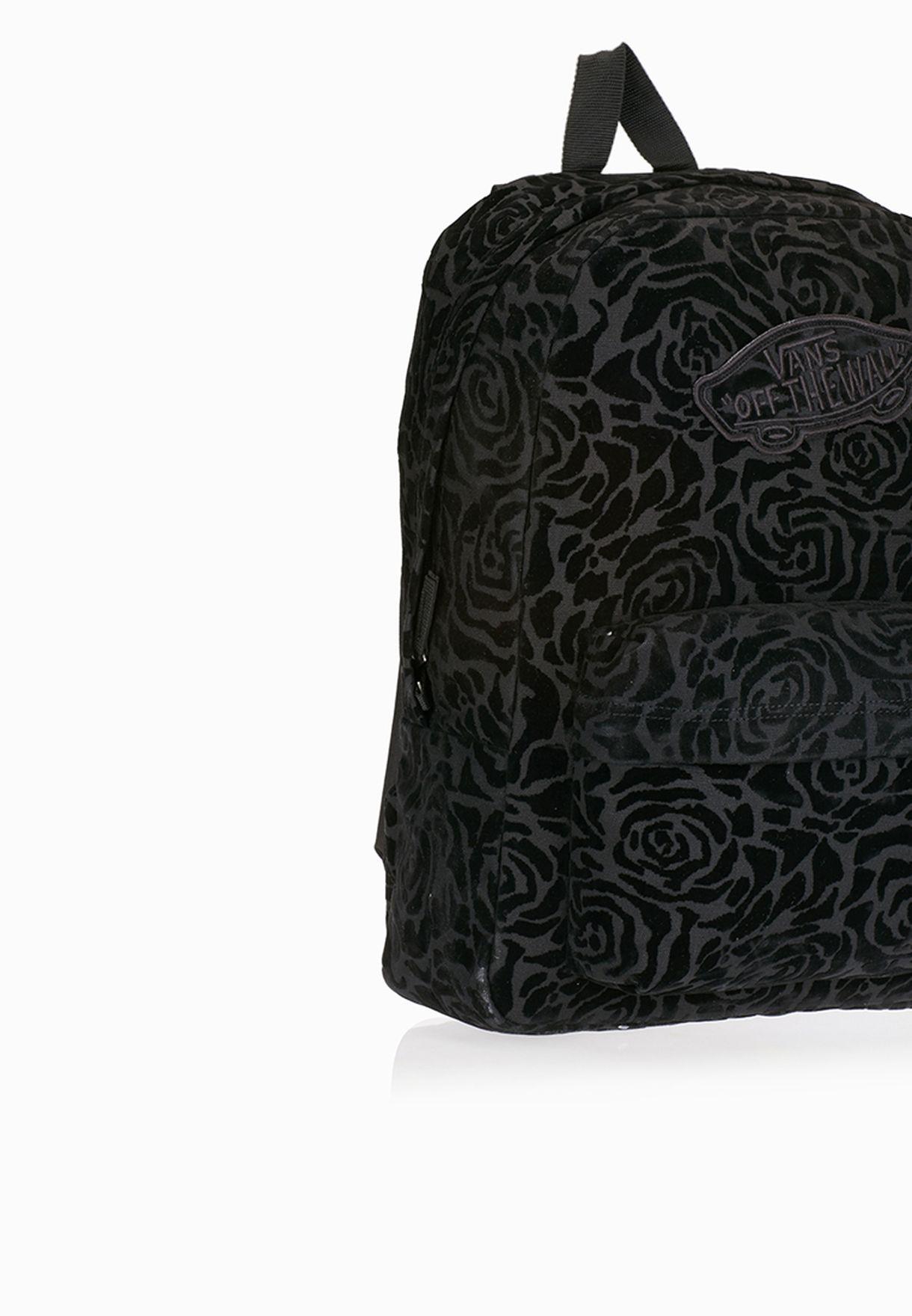 Shop Vans black Realm Backpack for Women in Kuwait ... ab99be8bef9ba