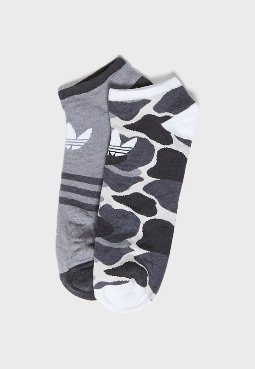 Trefoil Liner Camo Socks