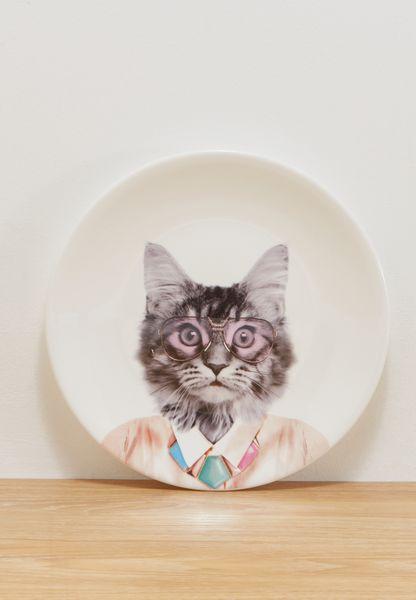 23cm Dinner Plate - Cat