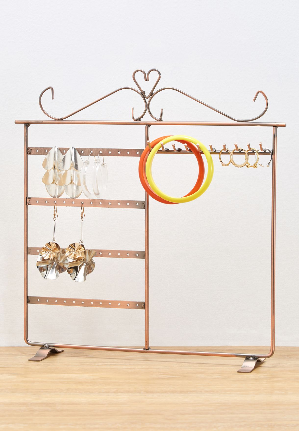Rose Gold Wire Jewellery Stand