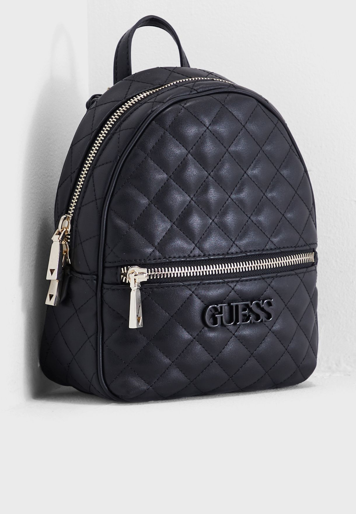 2982832d9d91 Shop Guess black Elliana Front Zip Backpack VG730232BLA for Women in Saudi  - GU094AC23HNG
