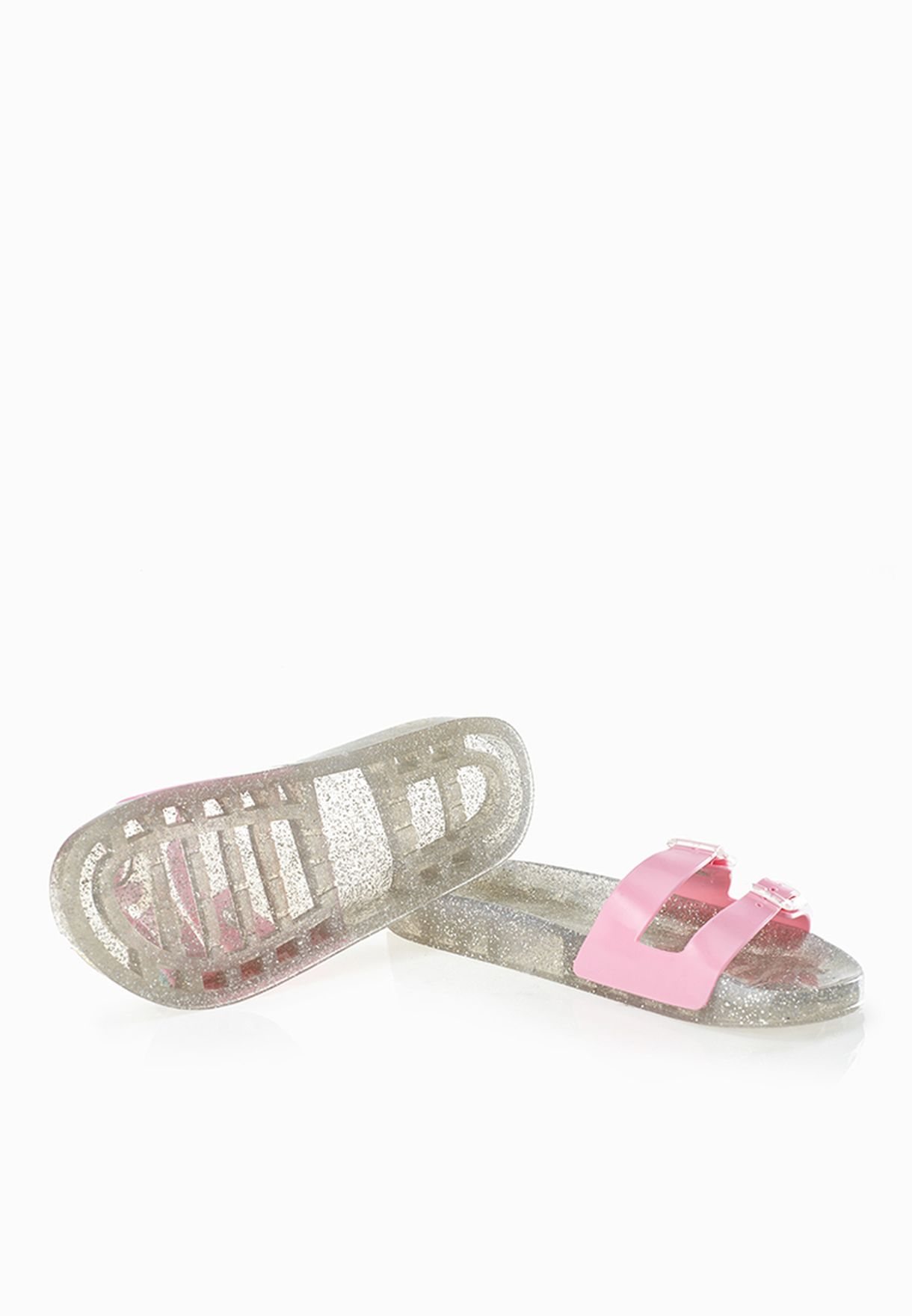 df910287bc0f Shop Juju pink Erin Jelly Buckle Sandals for Women in Saudi ...