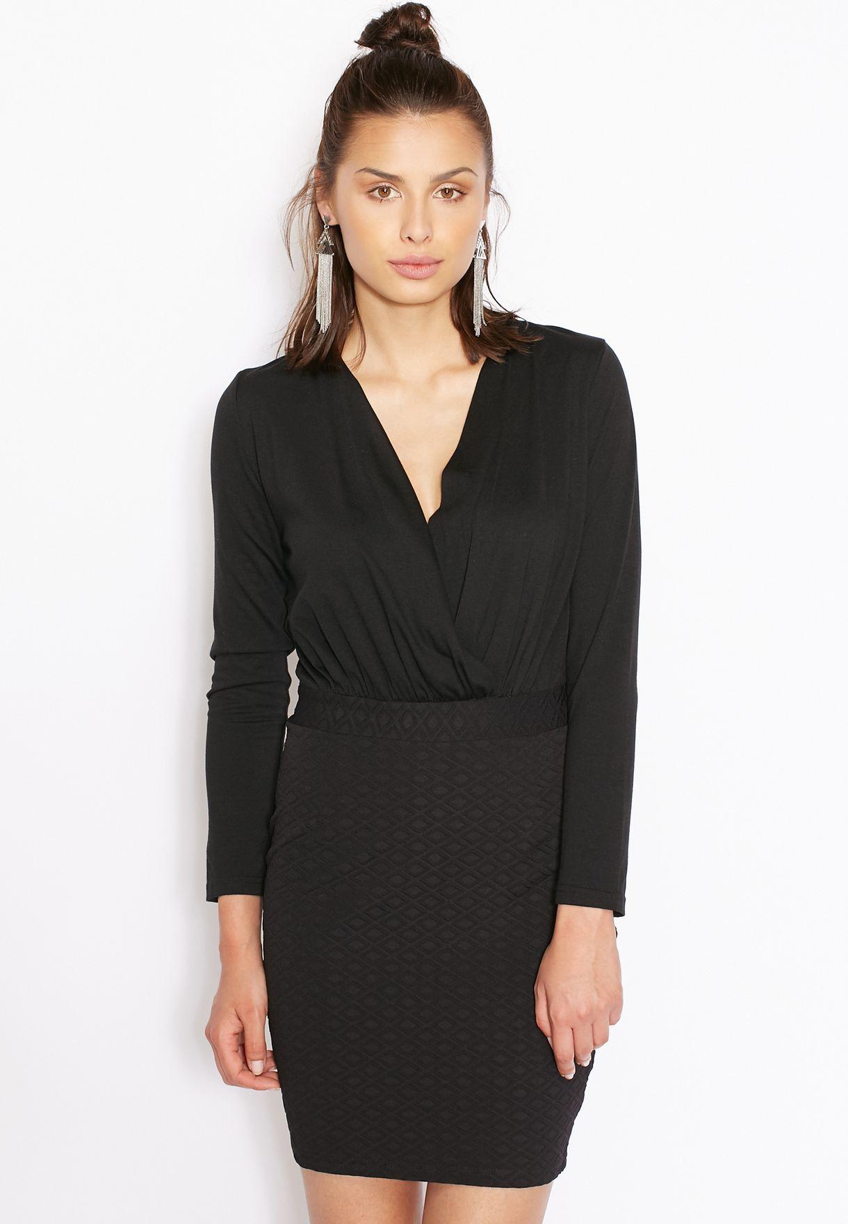 88e4afe065adc تسوق فستان لف ماركة جينجر لون أسود في الامارات - GI121AT23SIQ