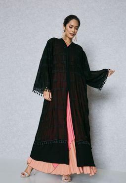 Embellished Tassel Cuffed Abaya