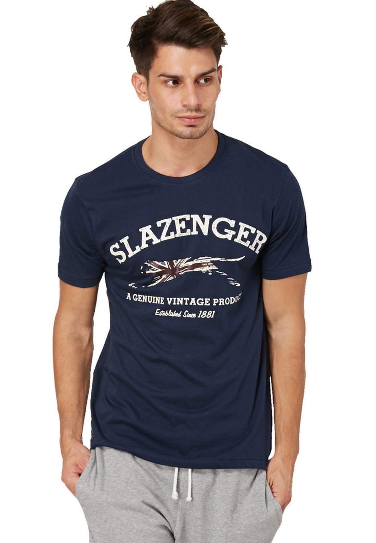 31ba5fcc4c Shop Slazenger navy Butcher Panther T-Shirt for Men in Oman ...