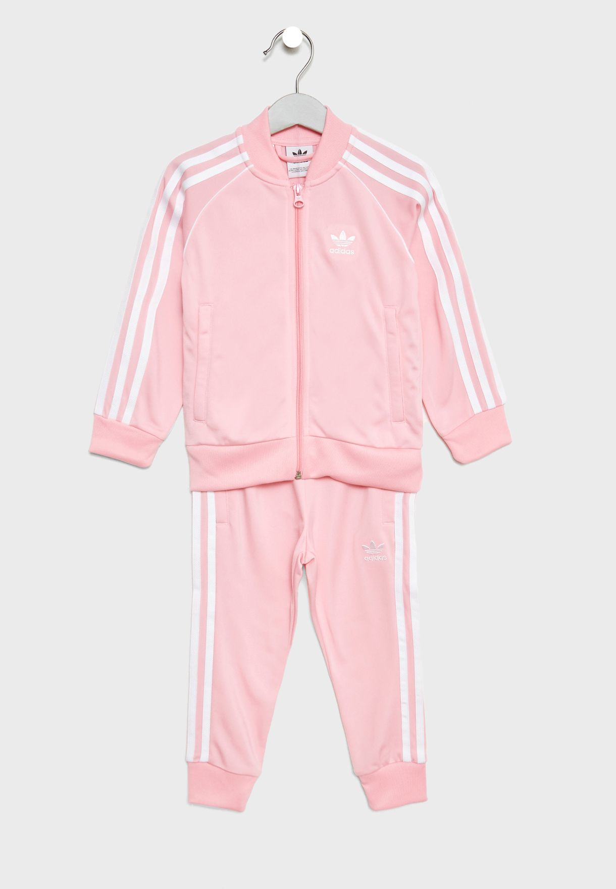 719881fda04 Shop adidas Originals pink Kids adicolor Trefoil Superstar Tracksuit ...