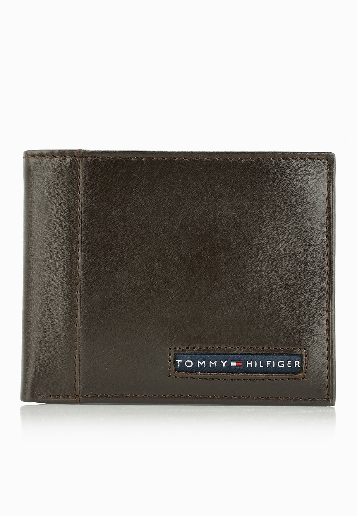 d1426a77adddb9 Shop Tommy Hilfiger browns Cambridge Passcase Wallet 31TL22X063 for ...