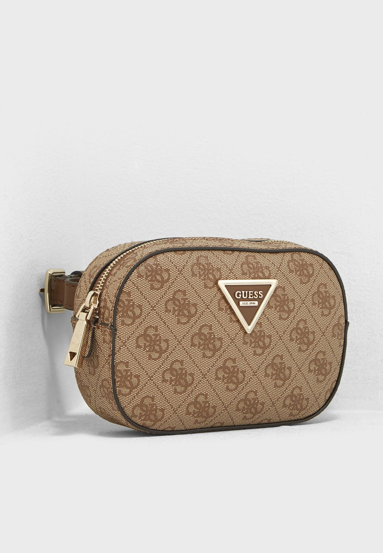 a246864479 Shop Guess browns Varsity Pop Belt Bag SG696780BRO for Women in UAE ...