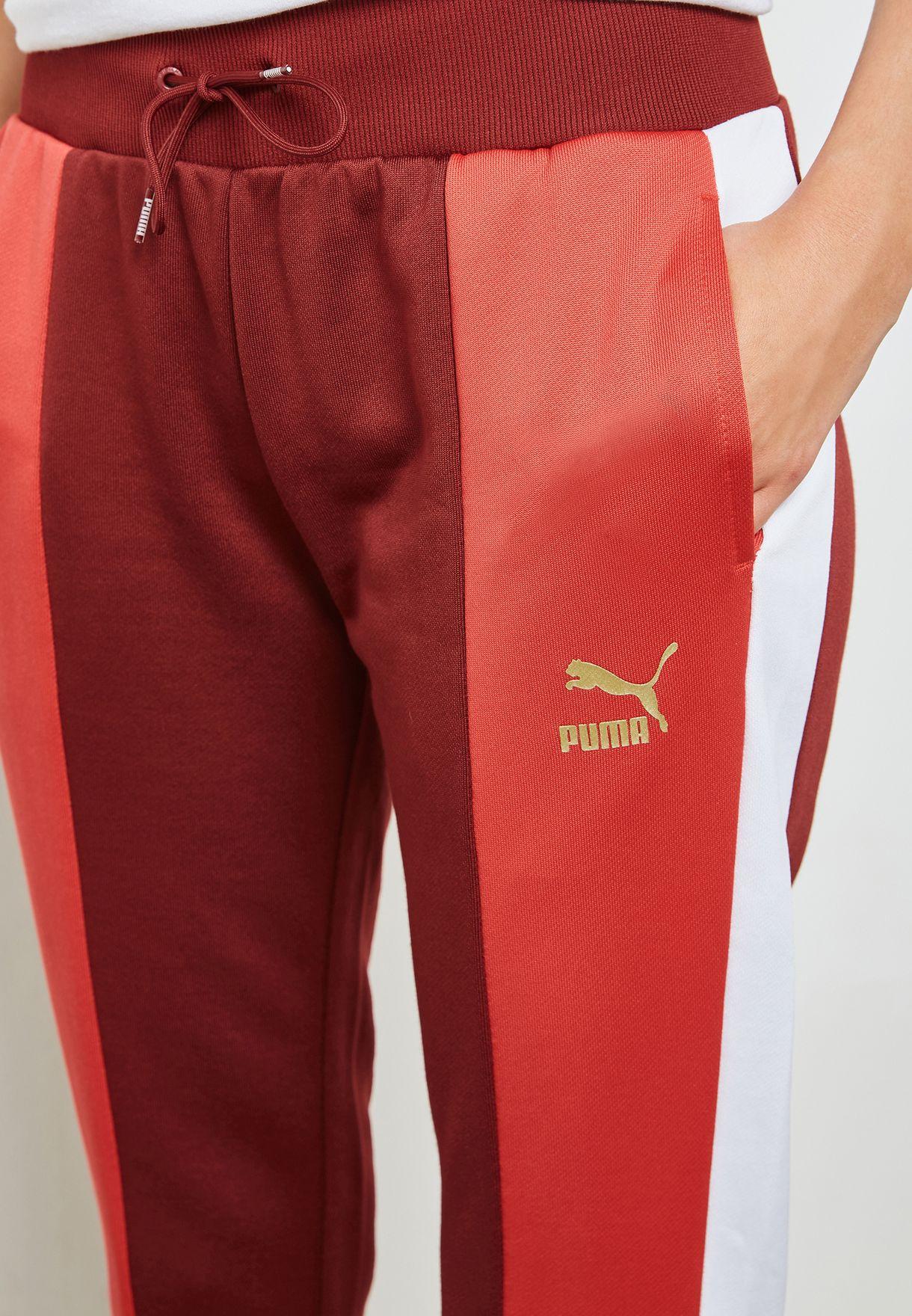 5ff56bd1cdad Shop PUMA red Retro Track Pant 57651418 for Women in Saudi ...