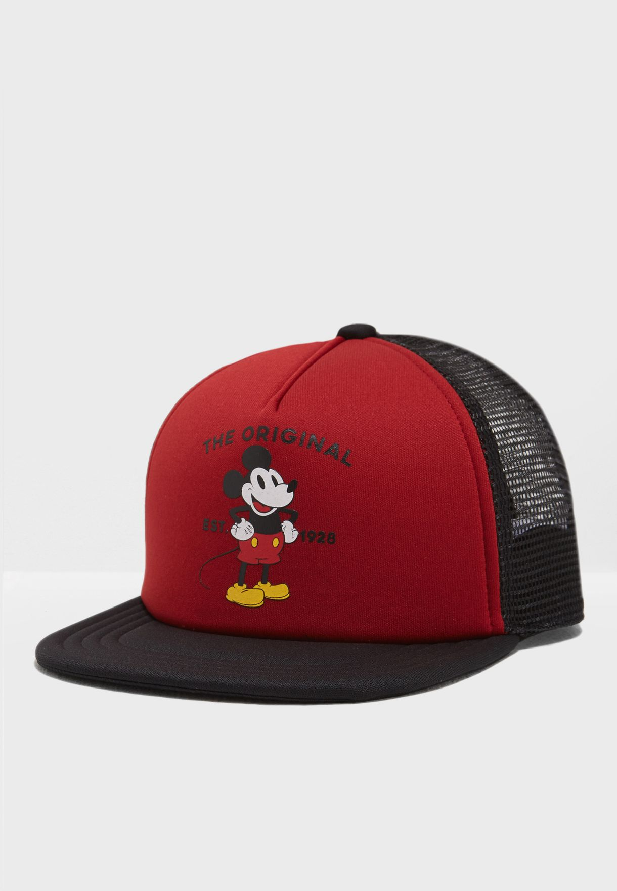 213896992a29c Shop Vans red Mickey 90th Trucker Cap VA3I2FXH6 for Kids in UAE ...