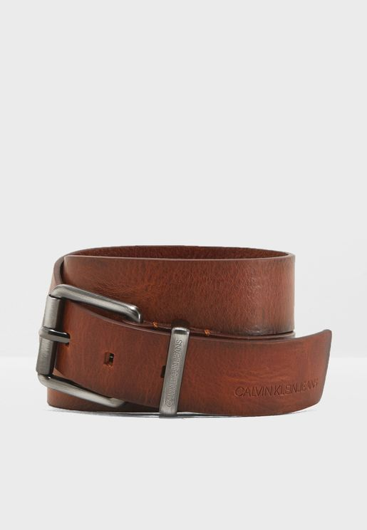 3.5 Cm Metal Loop Leather Belt