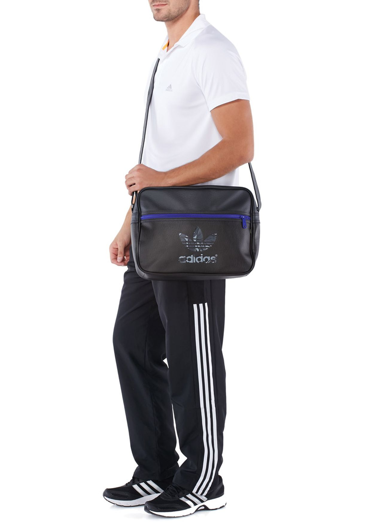 Shop adidas Originals black Airline Messenger S20100 for Men in UAE ... 1cf908166dd5a
