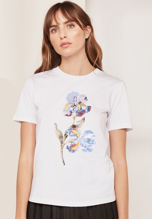 Ofidio Floral Print T-Shirt