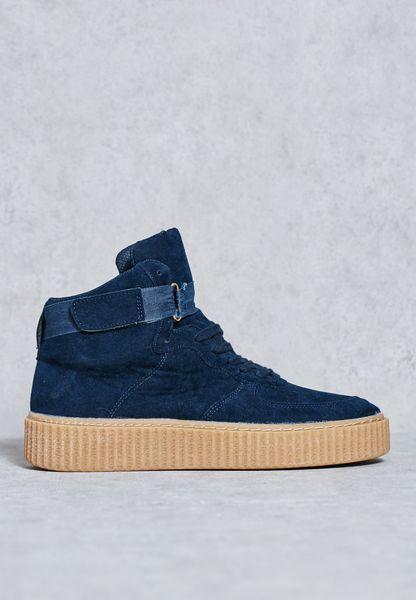 Platform Ankle Strap Sneakers