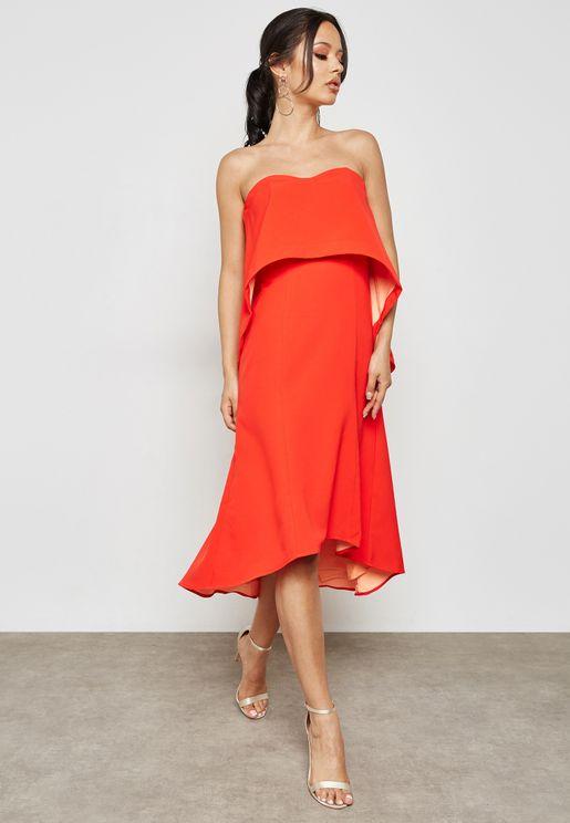 Waterfall Bandeau Dress