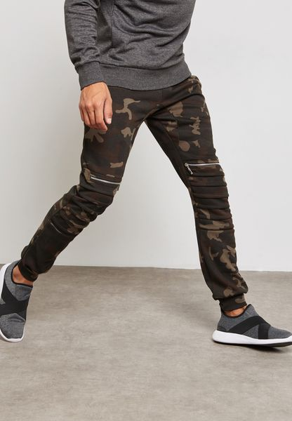 Ribbed Camo Sweatpants