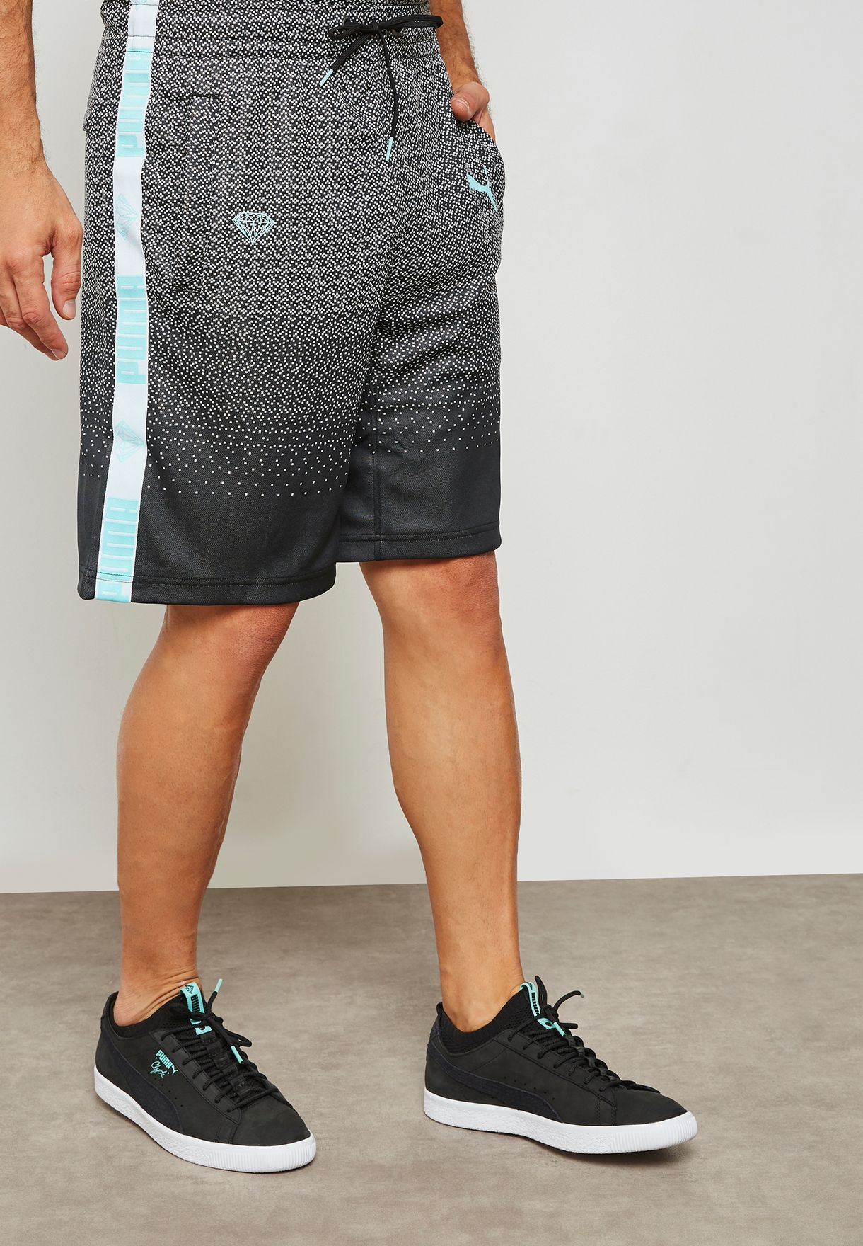cbfd9faeb Shop PUMA monochrome Diamond Shorts 57536301 for Men in Saudi ...