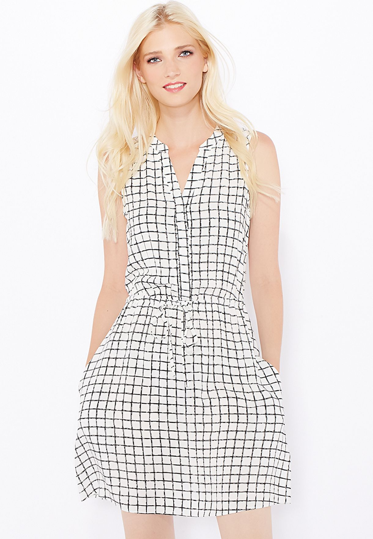 426bf1d333 Shop New Look black Check Grid Dress for Women in UAE - NE767AT23JMY