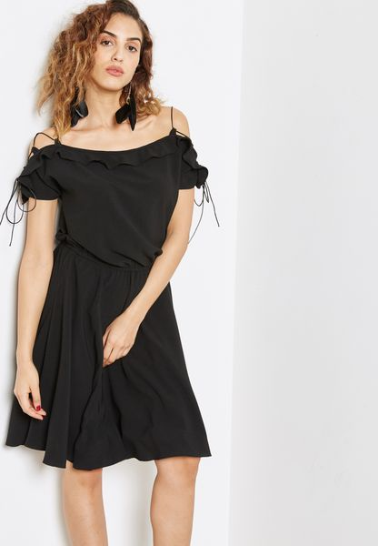 Shoulder Tie Detail Dress