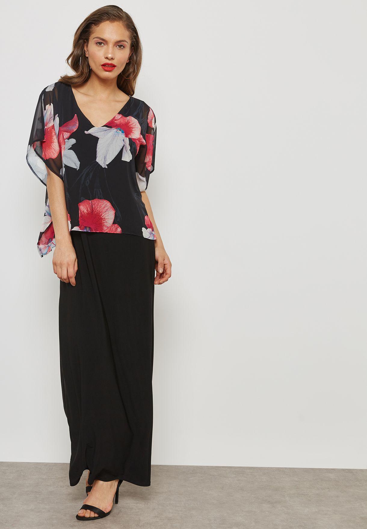 c8734176e8 Shop Wallis black Maxi Dress 156001001 for Women in Kuwait ...